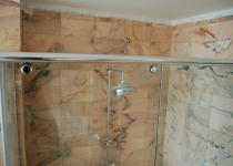 System for sliding shower glass cabins