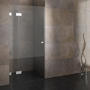 Openable glass shower cabins